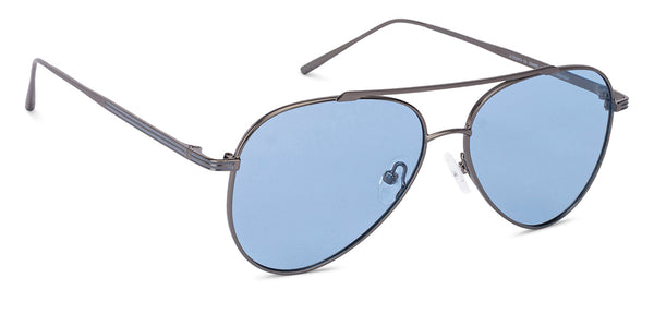 Sunglasses-Aviator-Matte Black Grey-SG