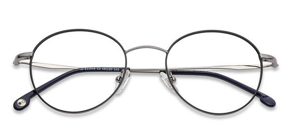 Eyeglasses For Men-Round-Black Gold-EG