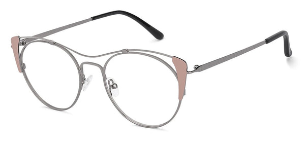 Eyeglasses For Women-Cat Eye-Black Gold-EG