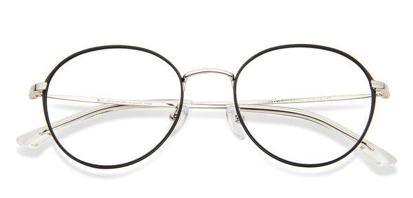 Eyeglasses For Men-Round-White Golden-EG