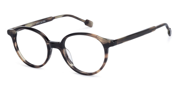 Eyeglasses For Men-Round-Brown Tortoise-EG