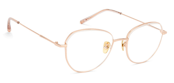 Eyeglasses For Men-Round-Gold-EG