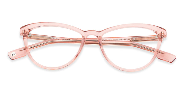 Eyeglasses For Women-Cat Eye-Pink Transparent-EG