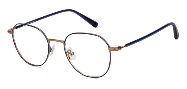Eyeglasses For Men-Round-Blue-EG