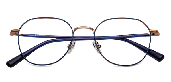 Eyeglasses For Women-Round-Blue-EG