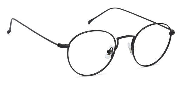 Eyeglasses For Men-Round-Silver-EG