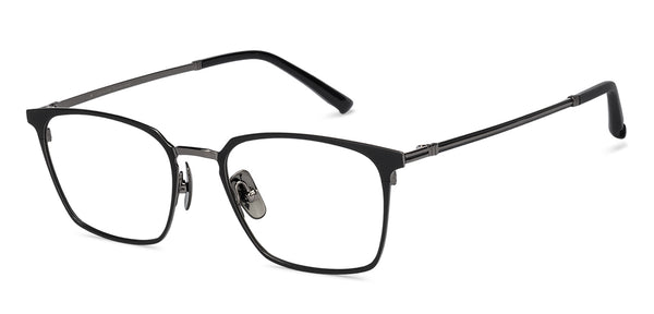Eyeglasses For Men-Rectangle-Black-EG