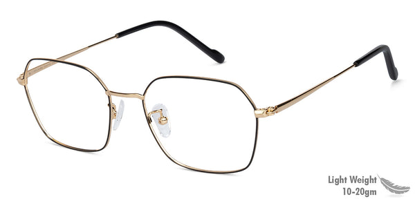 Eyeglasses For Women-Wayfarer-Black Gold-EG