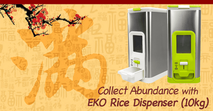 Collect Abundance with EKO Rice Dispenser (10KG)