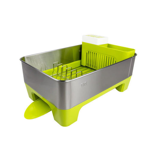 EKO Stainless Steel Premium Dish Rack - Lime, EKO - HippoMart.SG - Premium Item at Direct Factory Price