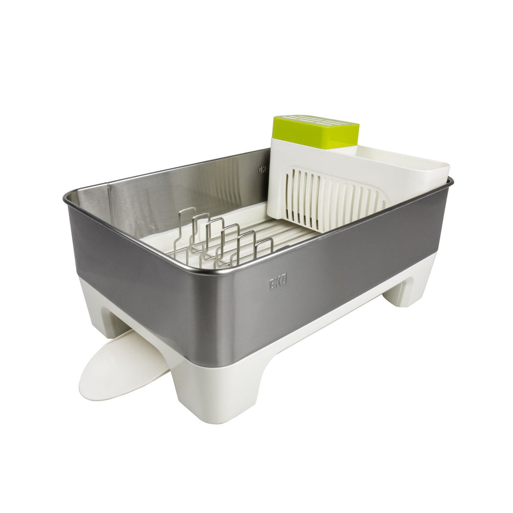 EKO Stainless Steel Premium Dish Rack - White, EKO - HippoMart.SG - Premium Item at Direct Factory Price