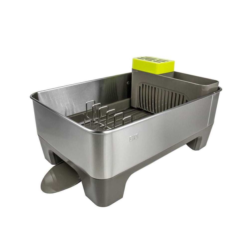 EKO Stainless Steel Premium Dish Rack - Grey, EKO - HippoMart.SG - Premium Item at Direct Factory Price