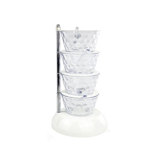 Multi-level Spice & Condiment Container (White)
