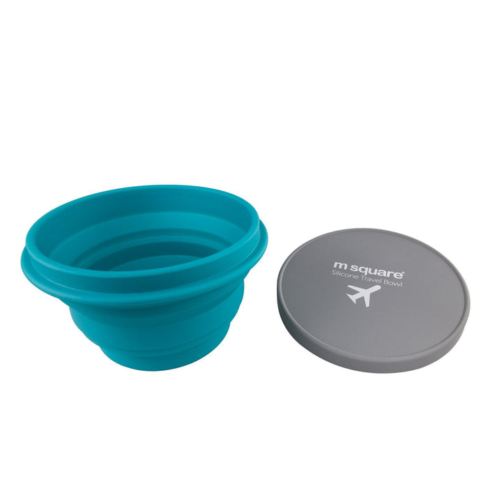 M SquareFood Grade Silicon Travel Bowl-Blue, HippoMart - HippoMart.SG - Premium Item at Direct Factory Price