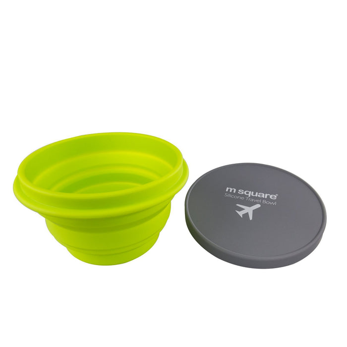 M Square Food Grade Silicon Travel Bowl-Yellow, HippoMart - HippoMart.SG - Premium Item at Direct Factory Price