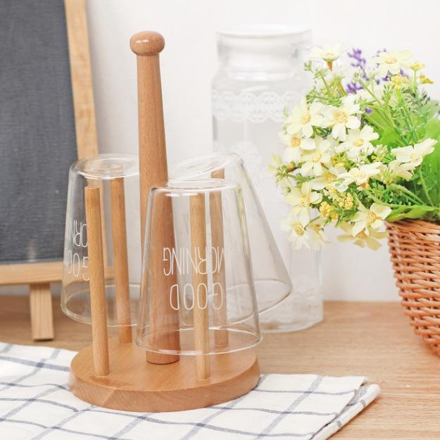 Zakka Cup Drying Stand in Eucalyptus Wood, HippoMart  - HippoMart.SG - Premium Item at Direct Factory Price