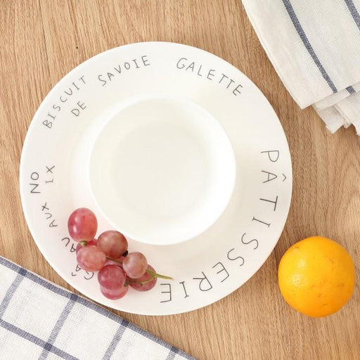 "Zakka ""Patisserie"" French Instagram Ceramic Plate, HippoMart  - HippoMart.SG - Premium Item at Direct Factory Price"