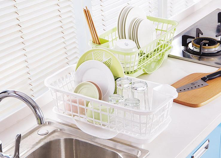 JAX Modular Dish Drying Rack with Fat Drainage Spout & Removable Cutlery Holder