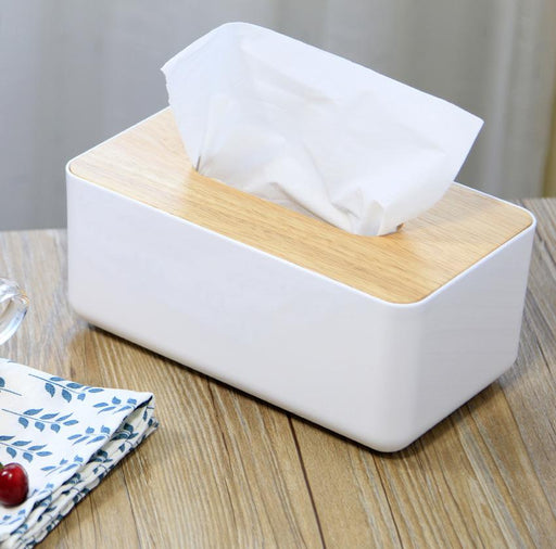 Natural Wooden Cover Tissue Storage
