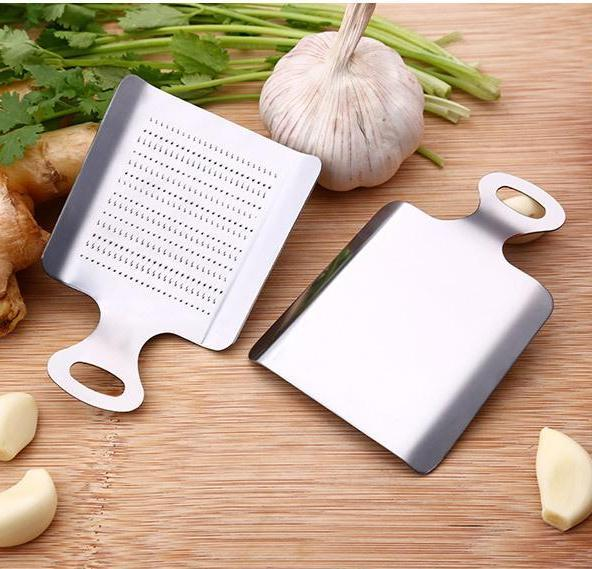 SUS304 Stainless Steel Ginger/Garlic/Roots Vegetable Grater for Puree & Ginger Mud, Hippomart - HippoMart.SG - Premium Item at Direct Factory Price