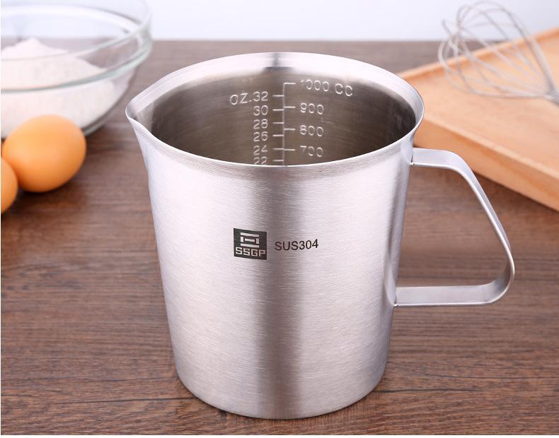 SUS304 Stainless Steel Measuring Flask - 1000ml, Hippomart - HippoMart.SG - Premium Item at Direct Factory Price