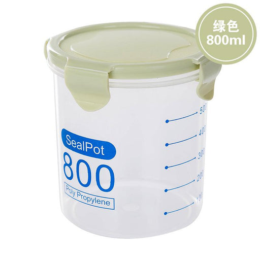 Airtight Round BPA-Free Food Storage Container 800ml - Green, HippoMart - HippoMart.SG - Premium Item at Direct Factory Price