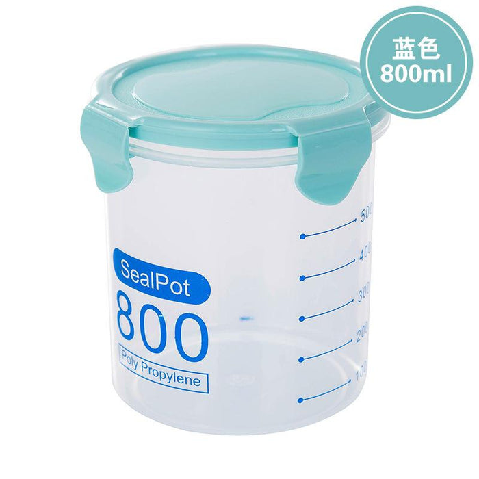 Airtight Round BPA-Free Food Storage Container 800ml - Blue, HippoMart - HippoMart.SG - Premium Item at Direct Factory Price