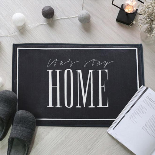 "Zakka Flannel ""HOME"" Floor Mat"