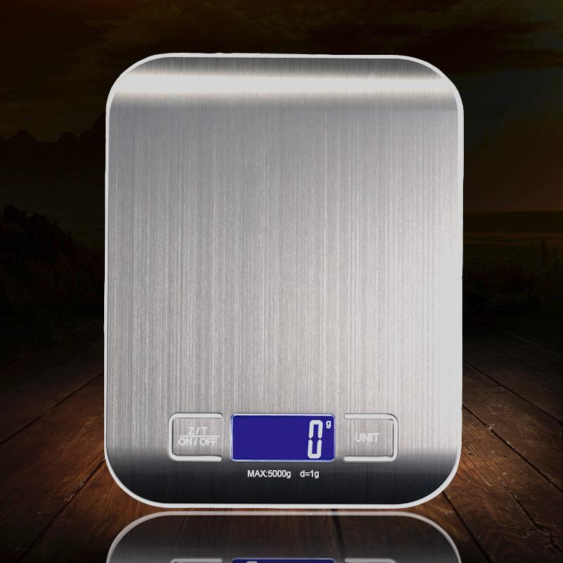 SUS304 Stainless Steel High Precision Digital Kitchen Scale with Backlight (Max 5kg), HippoMart  - HippoMart.SG - Premium Item at Direct Factory Price