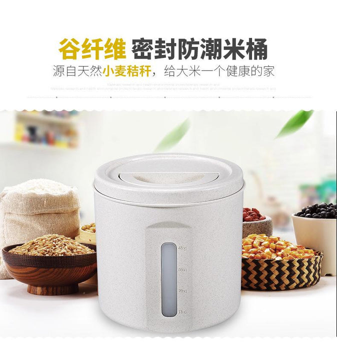 10KG Wheat Straw Rice Storage Bucket with Air Tight Sealed Lid (Green), HippoMart  - HippoMart.SG - Premium Item at Direct Factory Price