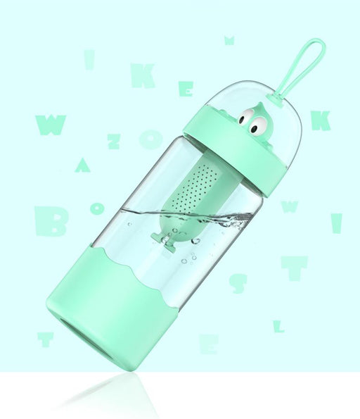Mike Wazowski Food Grade BPA Free Infuser 370ml Water Bottle - Cyan, Hippomart - HippoMart.SG - Premium Item at Direct Factory Price