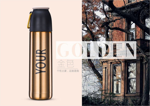 YOUR Gold SUS 304 Stainless Steel Vacuum Insulation Travel Tumbler