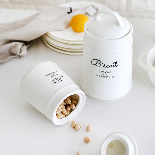 Zakka Ceramic Food Jar with Airtight Lid