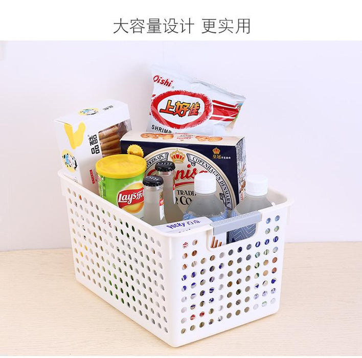 Kitchen Perforated PP Wide Profile Storage Basket - Medium, Hippomart - HippoMart.SG - Premium Item at Direct Factory Price