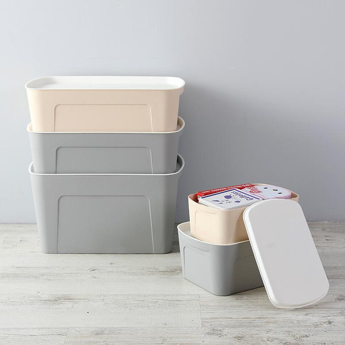 Multi-Purpose Durable PP Zen Bedroom Storage Box with Lid - Big (Beige), Hippomart - HippoMart.SG - Premium Item at Direct Factory Price