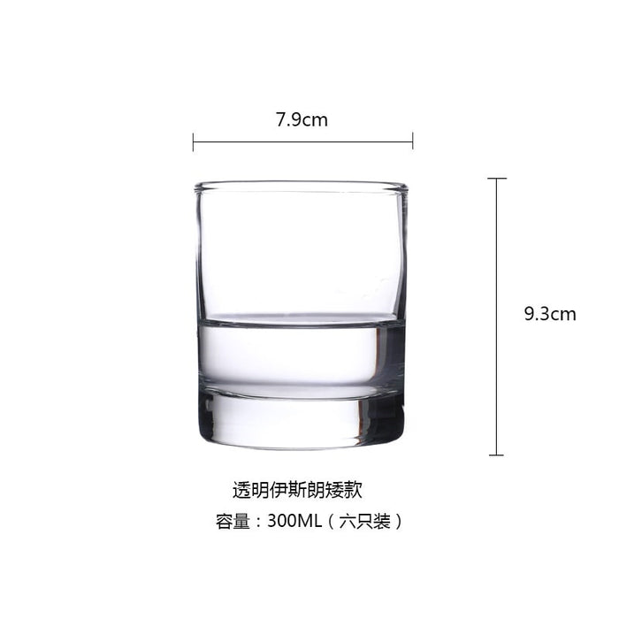 Luminarc Sterling Tumbler 300ml Glass Set of 6 Crystal Glass Whiskey Glass Wine Glass Cocktail Glass Drink Cup Household Water Cup