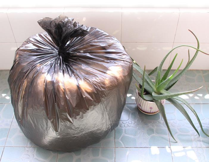 Hippomart Extra Thick PE Non-Leak Trash Bag - 100L (10 pcs in a pack), HippoMart  - HippoMart.SG - Premium Item at Direct Factory Price