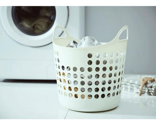 Starflex Durable PP Plastic Flexible & Perforated Laundry Basket, Hippomart - HippoMart.SG - Premium Item at Direct Factory Price