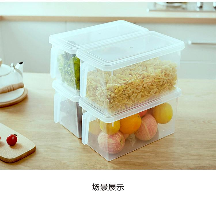 Multi-Purpose Food Grade ABS Plastic Fridge Storage Container (With 3 Divider), Hippomart - HippoMart.SG - Premium Item at Direct Factory Price