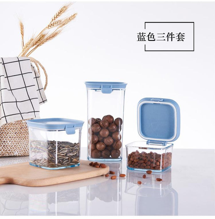 Modeco Colour Series Square Organiser Storage Container with Swivel Airtight Lid 430ml+680ml Gift Set - Blue, HippoMart  - HippoMart.SG - Premium Item at Direct Factory Price