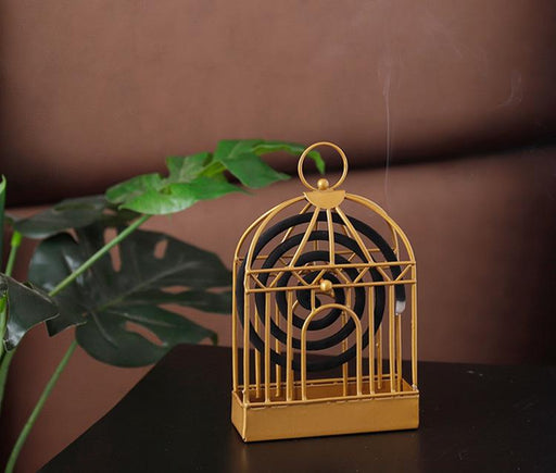 Handmade Birdcage Mosquito Coil Decor Holder - Black, Hippomart - HippoMart.SG - Premium Item at Direct Factory Price