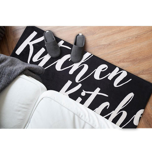 "Zakka Flannel Long ""KITCHEN"" Floor Mat, HippoMart  - HippoMart.SG - Premium Item at Direct Factory Price"