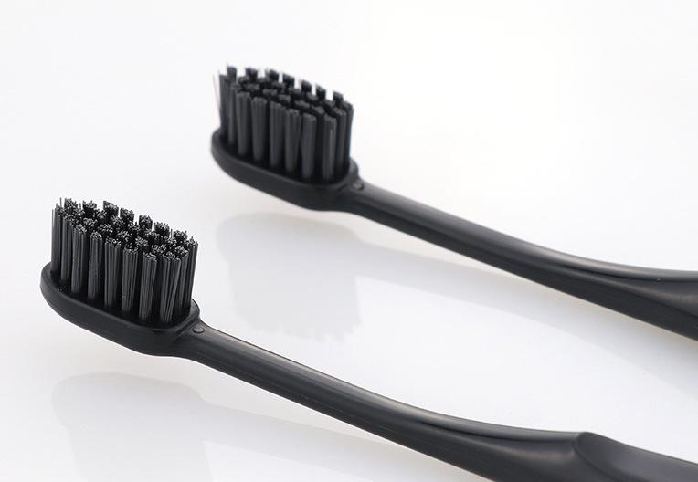 Japan Import Activated Charcoal Soft Bristle Toothbrush with Ventilated Back (3 in a pack), HippoMart  - HippoMart.SG - Premium Item at Direct Factory Price