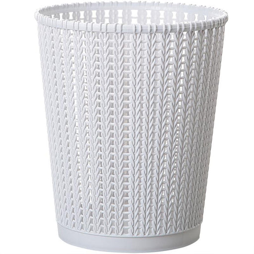 Plastic Weaving Rattan Style Trash Bin 8L, HippoMart  - HippoMart.SG - Premium Item at Direct Factory Price