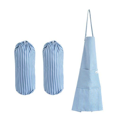 Korean Traditional Waterproof Apron with Arm Guard - Blue, HippoMart  - HippoMart.SG - Premium Item at Direct Factory Price