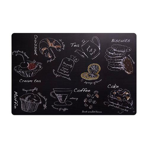 Modeco Non-Stain Heat Resistant PVC Table Mat - Food Chalk Drawing Design, HippoMart  - HippoMart.SG - Premium Item at Direct Factory Price