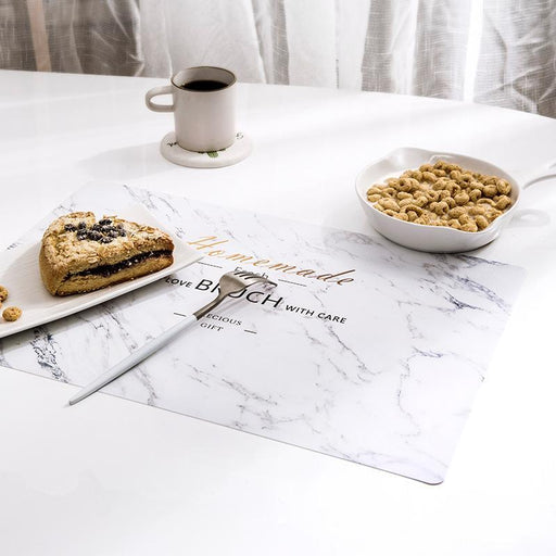 Modeco Non-Stain Heat Resistant PVC Table Mat - Marble Design, HippoMart - HippoMart.SG - Premium Item at Direct Factory Price