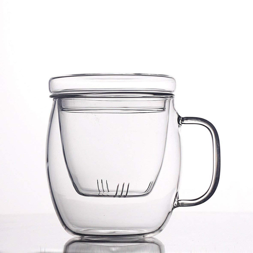 Borosilicate Glass Brewing Teapot Single Cup Tea Brewing System (with Glass Lid and Infuser) - 500ml, HippoMart - HippoMart.SG - Premium Item at Direct Factory Price