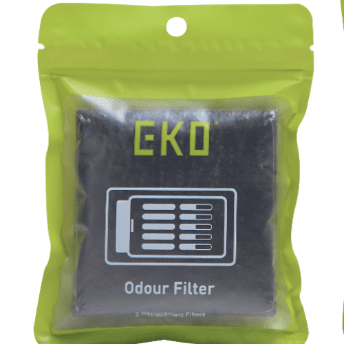 Activated Charcoal Odour Filter - 8cm x 8cm, EKO - HippoMart.SG - Premium Item at Direct Factory Price