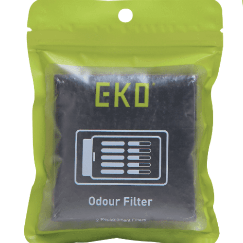 Activated Charcoal Odour Filter - 8cm x 11cm, EKO - HippoMart.SG - Premium Item at Direct Factory Price